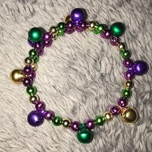 Mardi Gras wrap bracelet with bells